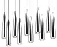 Kuzco 402010CH-LED Chrome LED Multi Drop Ceiling Lighting