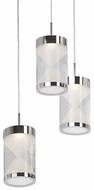 Kuzco 402103CH-LED Contemporary Chrome LED Multi Drop Lighting Fixture