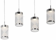 Kuzco 402104CH-LED Modern Chrome LED Multi Pendant Lighting