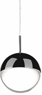 Kuzco 402801BC-LED Pluto Contemporary Black Chrome LED Mini Hanging Light Fixture
