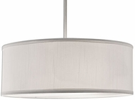 Kuzco 41073W Brushed Nickel 16  Drum Pendant Lighting