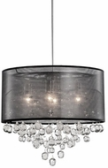 Kuzco 42154B Chrome Drum Hanging Pendant Lighting