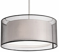 Kuzco 42332B Modern Brushed Nickel 15  Drum Drop Lighting