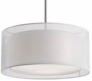 Kuzco 42332W Contemporary Brushed Nickel 15  Drum Drop Ceiling Lighting