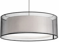 Kuzco 42333B Modern Brushed Nickel 20  Drum Ceiling Light Pendant