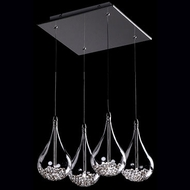Kuzco 439104 Chrome Halogen Multi Hanging Pendant Lighting