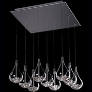 Kuzco 439109 Chrome Halogen Multi Hanging Light Fixture