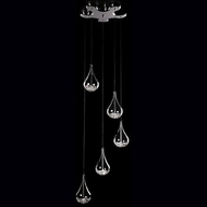 Kuzco 439115 Chrome Halogen Multi Drop Lighting