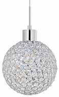 Kuzco 440001CH-LED Chrome LED Drop Ceiling Light Fixture
