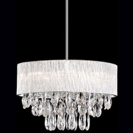 Kuzco 444008 Chrome Halogen 20  Drum Pendant Light
