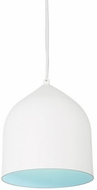 Kuzco 49108-WH-BU Helena Contemporary White / Blue Mini Pendant Lighting