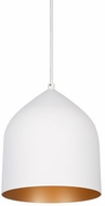 Kuzco 49108-WH-CP Helena Modern White / Copper Mini Pendant Light