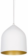 Kuzco 49108-WH-GD Helena Contemporary White / Gold Mini Lighting Pendant
