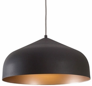 Kuzco 49117-GH-CP Helena Contemporary Graphite / Copper Hanging Lamp