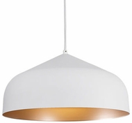 Kuzco 49117-WH-CP Helena Contemporary White / Copper Hanging Pendant Lighting