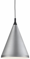 Kuzco 492716-BN-BK Dorothy Contemporary Brushed Nickel / Black 16  Hanging Pendant Lighting