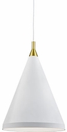 Kuzco 492716-WH-GD Dorothy Modern White / Gold 16  Hanging Pendant Light