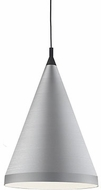 Kuzco 492722-BN-BK Dorothy Modern Brushed Nickel / Black 22  Hanging Light Fixture