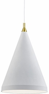 Kuzco 492722-WH-GD Dorothy Contemporary White / Gold 22  Drop Lighting