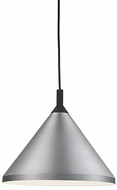 Kuzco 492814-BN-BK Dorothy Contemporary Brushed Nickel / Black 14  Ceiling Light Pendant