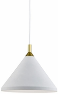Kuzco 492814-WH-GD Dorothy Modern White / Gold 14  Ceiling Pendant Light