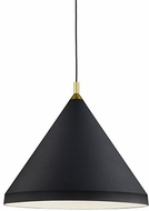 Kuzco 492824-BK-GD Dorothy Contemporary Black / Gold 24  Drop Ceiling Light Fixture