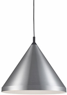 Kuzco 492824-BN-BK Dorothy Modern Brushed Nickel / Black 24  Drop Lighting Fixture