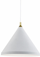 Kuzco 492824-WH-GD Dorothy Contemporary White / Gold 24  Pendant Lighting