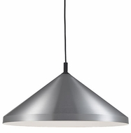 Kuzco 493126-BN-BK Dorothy Modern Brushed Nickel / Black 26  Hanging Light