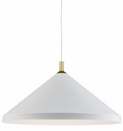 Kuzco 493126-WH-GD Dorothy Contemporary White / Gold 26  Pendant Light Fixture