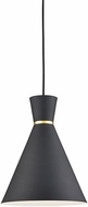 Kuzco 493210-BK-GD Vanderbilt Modern Black / Gold Mini Hanging Pendant Light