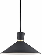 Kuzco 493216-BK-GD Vanderbilt Modern Black / Gold 16  Hanging Light Fixture