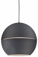Kuzco 494024-BK Lucas Modern Black 24  Drop Lighting Fixture