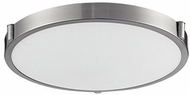 Kuzco 501122-LED Floyd Contemporary Brushed Nickel LED 17  Flush Ceiling Light Fixture