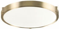 Kuzco 501122-VB Floyd Modern Vintage Brass LED 17  Flush Mount Ceiling Light Fixture
