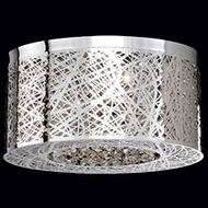 Kuzco 510106 Chrome Halogen 16  Flush Mount Lighting