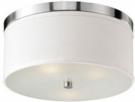 Kuzco 510802BN Brushed Nickel 15.75  Flush Ceiling Light Fixture