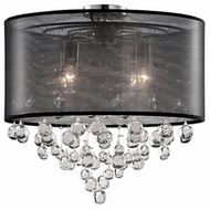 Kuzco 52154B Chrome Flush Ceiling Light Fixture