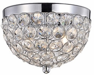 Kuzco 533102 Chrome Halogen Flush Mount Light Fixture