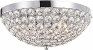 Kuzco 533105 Chrome Halogen Flush Mount Lighting Fixture