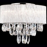 Kuzco 544006 Chrome Halogen 16  Flush Ceiling Light Fixture