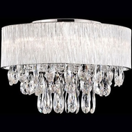 Kuzco 544008 Chrome Halogen 20  Flush Mount Ceiling Light Fixture