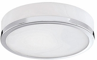 Kuzco 56012CH Modern Chrome Halogen 10.25  Flush Mount Lighting Fixture