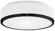 Kuzco 599002-BK Charlie Contemporary Black 11.5  Ceiling Lighting Fixture