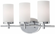 Kuzco 70273CH Contemporary Chrome 3-Light Bath Lighting Fixture