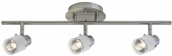Kuzco 81363BN Modern Brushed Nickel Halogen 3-Light Track Lighting Fixture