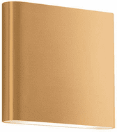 Kuzco AT6506-GD Slate Modern Gold Exterior Sconce Lighting
