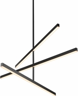 Kuzco CH10345-BK Vega Contemporary Black LED 45  Chandelier Light