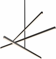 Kuzco CH10356-BK Vega Contemporary Black LED 56  Chandelier Light
