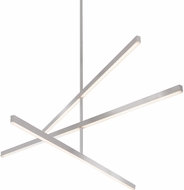 Kuzco CH10356-BN Vega Modern Brushed Nickel LED 56  Ceiling Chandelier